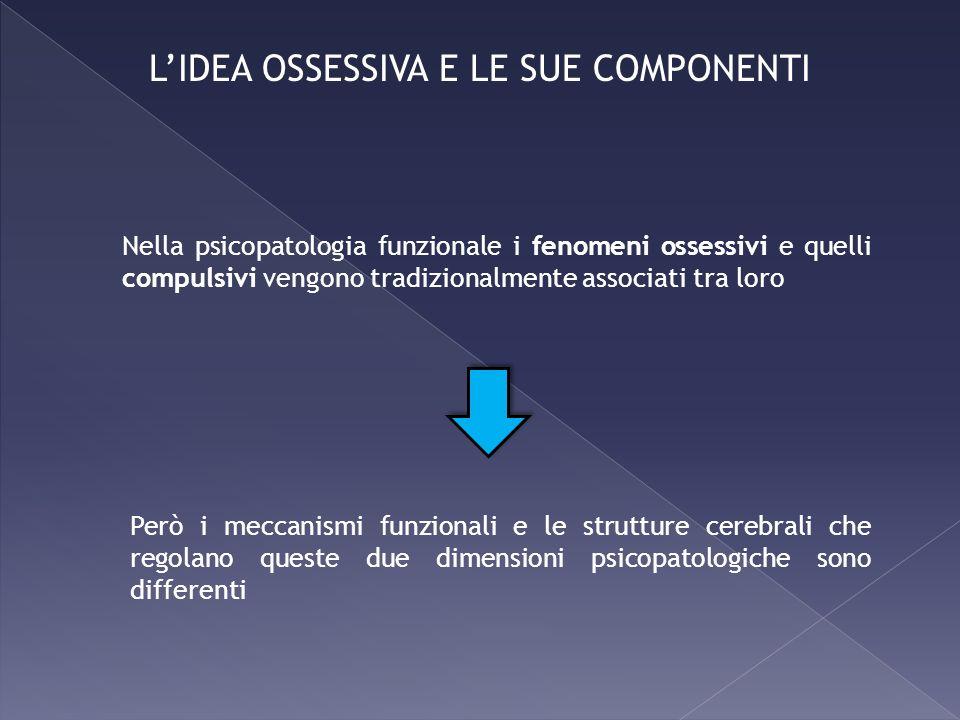 L'IDEA OSSESSIVA E LE SUE COMPONENTI