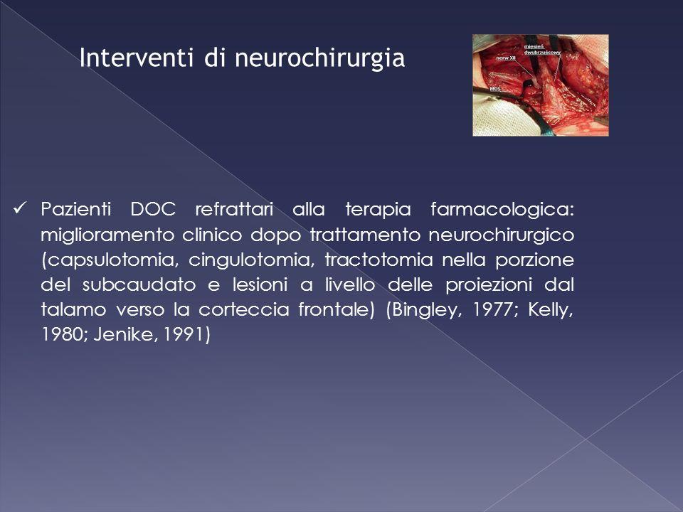Interventi di neurochirurgia