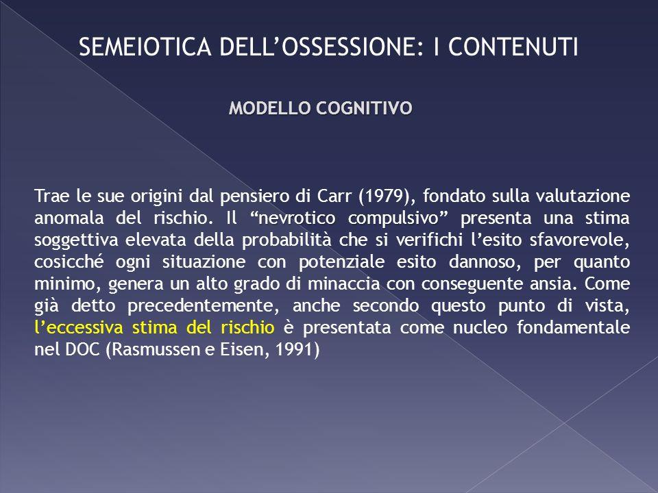 SEMEIOTICA DELL'OSSESSIONE: I CONTENUTI