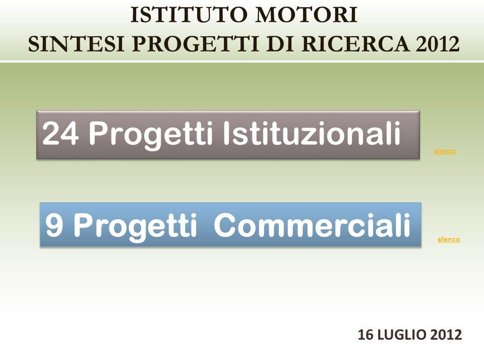 ISTITUTO MOTORI SINTESI PROGETTI DI RICERCA 2012