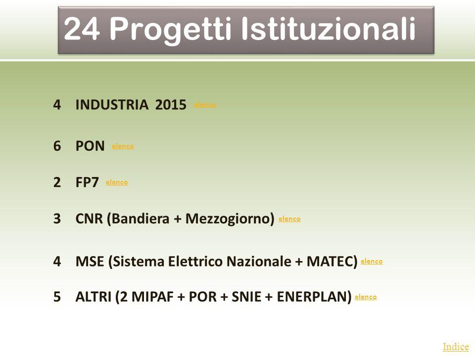 24 Progetti Istituzionali