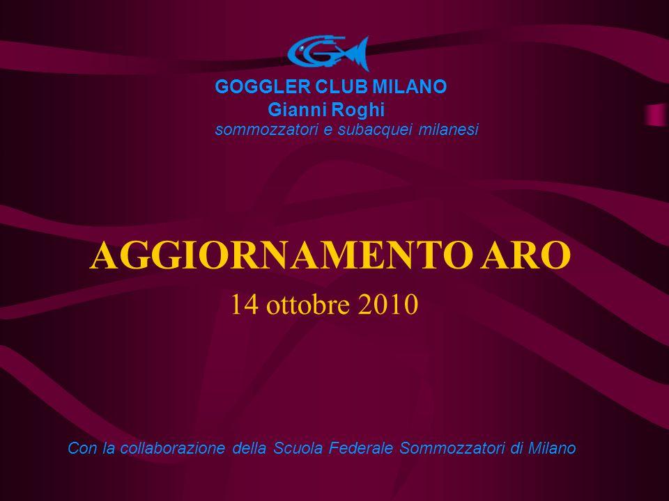 AGGIORNAMENTO ARO 14 ottobre 2010 GOGGLER CLUB MILANO Gianni Roghi