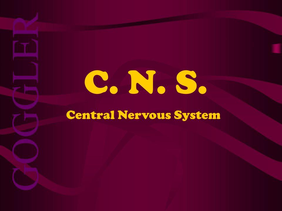 C. N. S. GOGGLER Central Nervous System