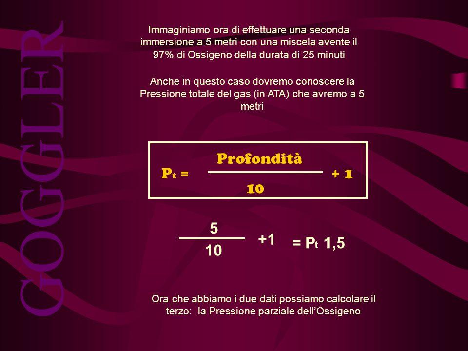 GOGGLER Pt = Profondità 10 + 1 5 10 +1 = Pt 1,5