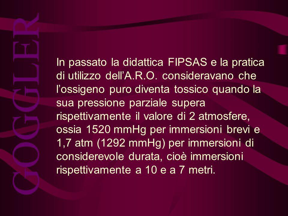 In passato la didattica FIPSAS e la pratica di utilizzo dell'A. R. O