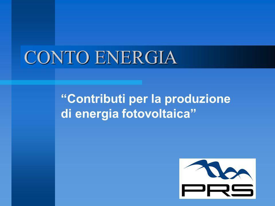Contributi per la produzione di energia fotovoltaica