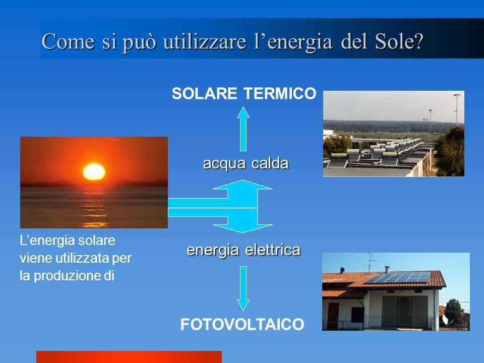 Come si può utilizzare l'energia del Sole