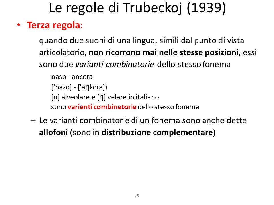 Le regole di Trubeckoj (1939)