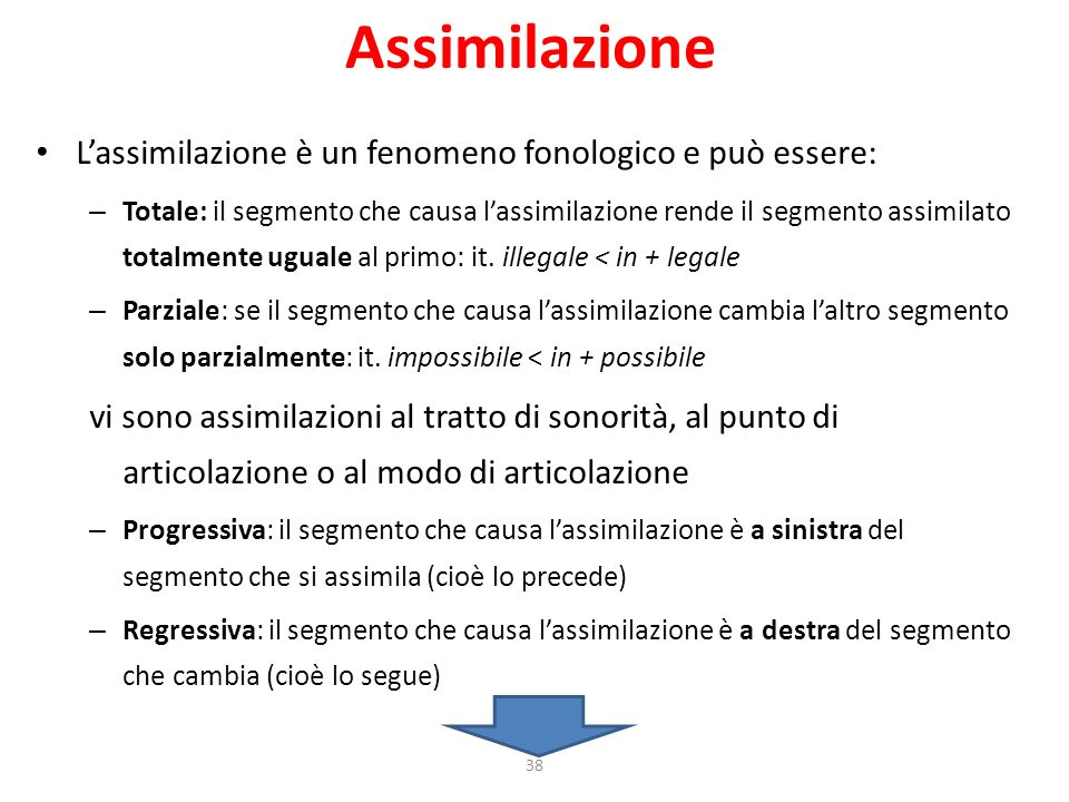 Assimilazione L'assimilazione è un fenomeno fonologico e può essere: