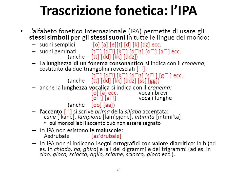 Trascrizione fonetica: l'IPA