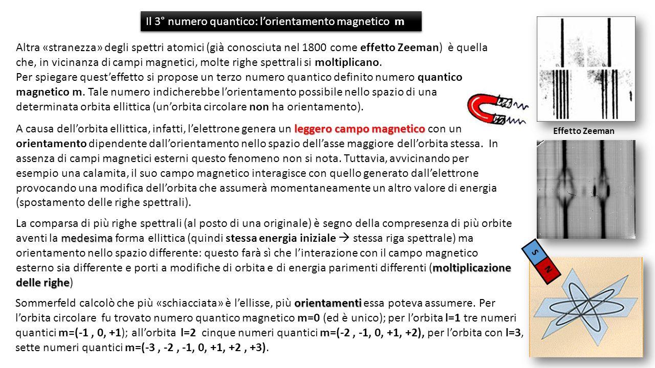 Il 3° numero quantico: l'orientamento magnetico m