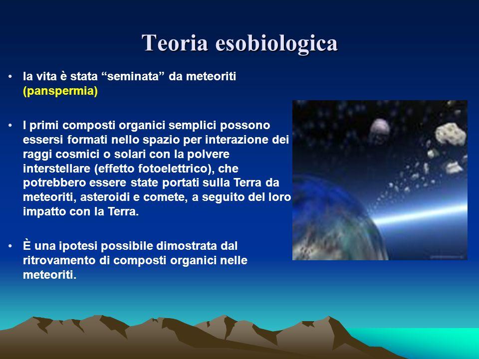 Teoria esobiologica la vita è stata seminata da meteoriti (panspermia)