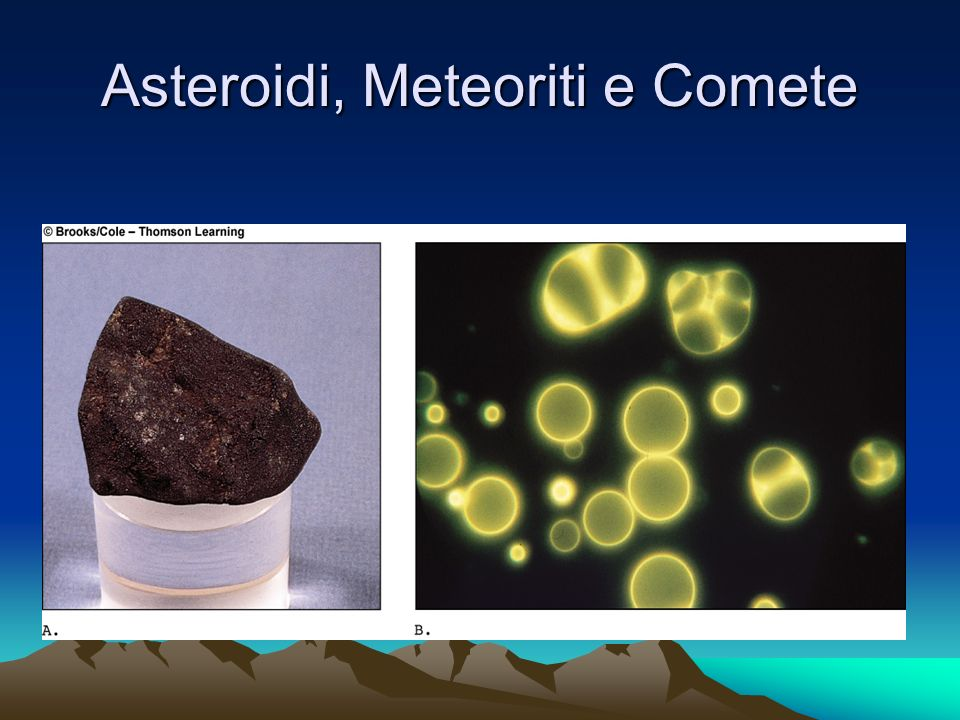 Asteroidi, Meteoriti e Comete