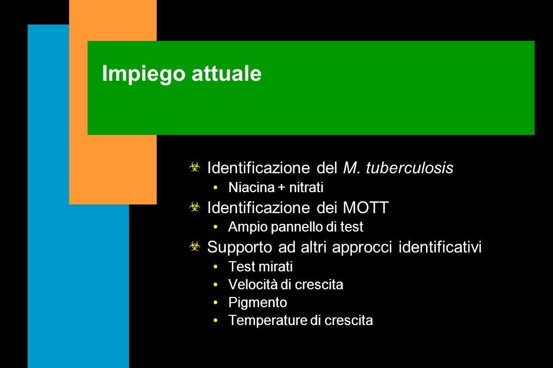 Impiego attuale Identificazione del M. tuberculosis