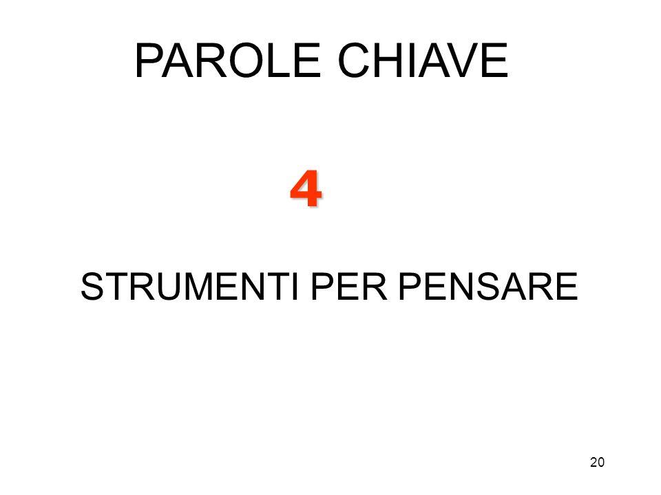 PAROLE CHIAVE 4 STRUMENTI PER PENSARE