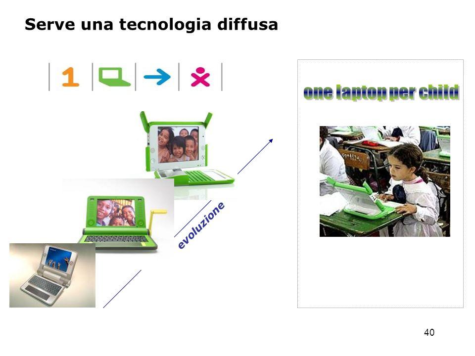 Serve una tecnologia diffusa