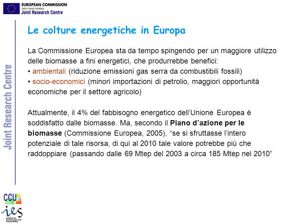 Le colture energetiche in Europa