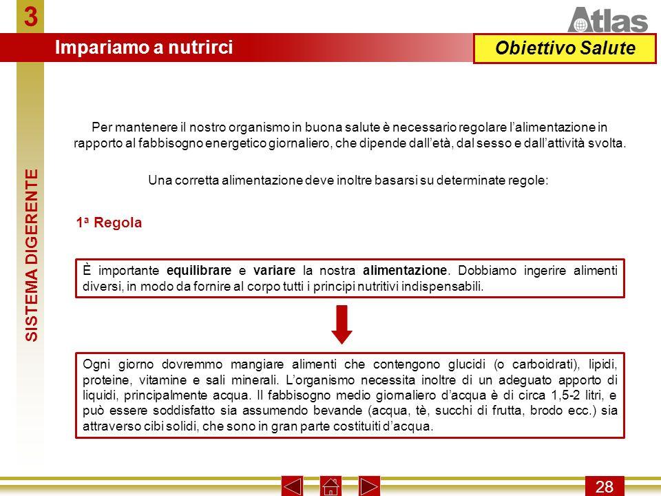 Una corretta alimentazione deve inoltre basarsi su determinate regole: