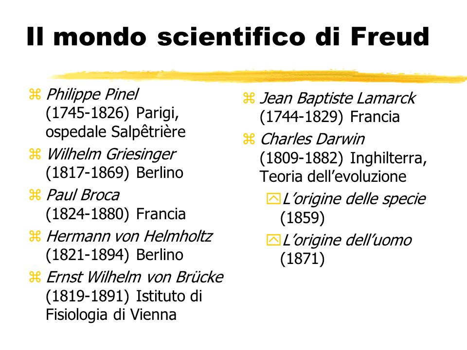 Il mondo scientifico di Freud