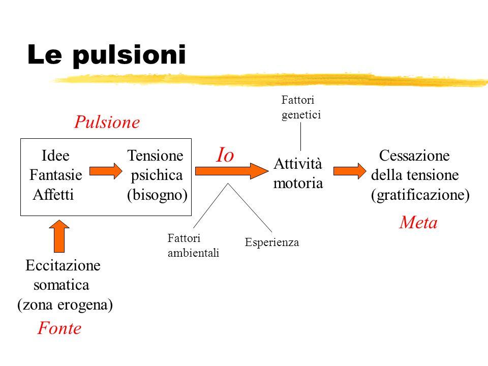 Le pulsioni Io Pulsione Meta Fonte Idee Fantasie Affetti Tensione