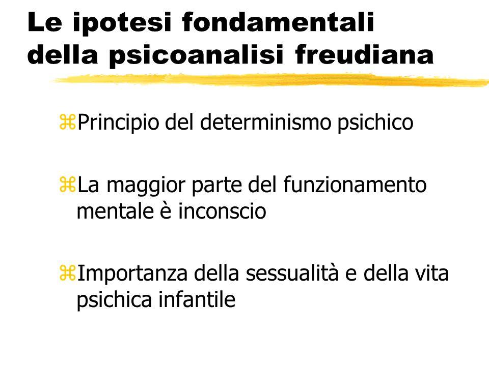 Le ipotesi fondamentali della psicoanalisi freudiana