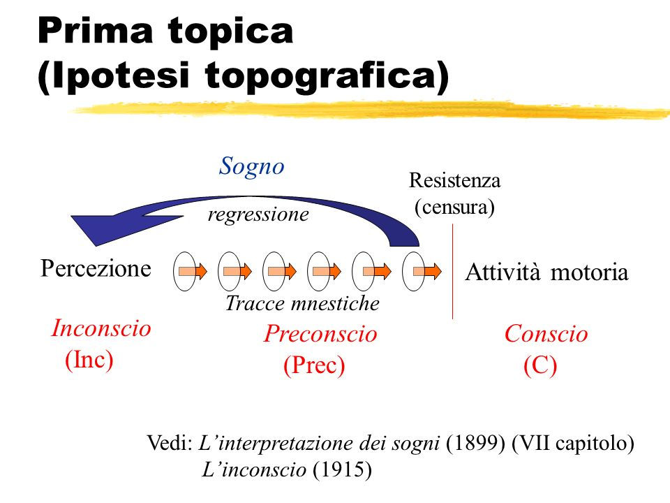 Prima topica (Ipotesi topografica)