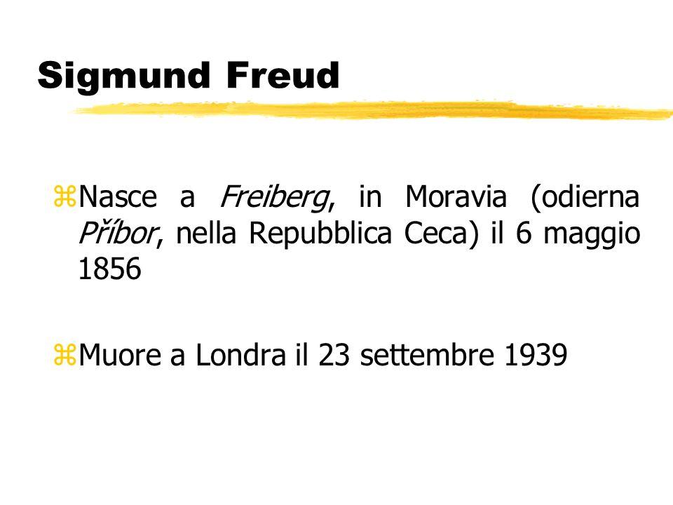 Sigmund Freud Nasce a Freiberg, in Moravia (odierna Příbor, nella Repubblica Ceca) il 6 maggio 1856.
