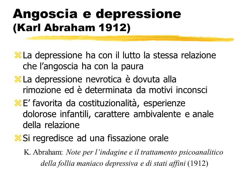 Angoscia e depressione (Karl Abraham 1912)