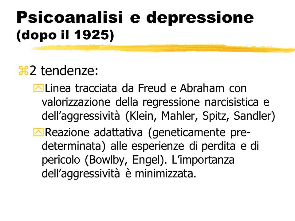 Psicoanalisi e depressione (dopo il 1925)