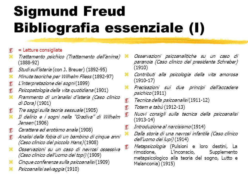 Sigmund Freud Bibliografia essenziale (I)