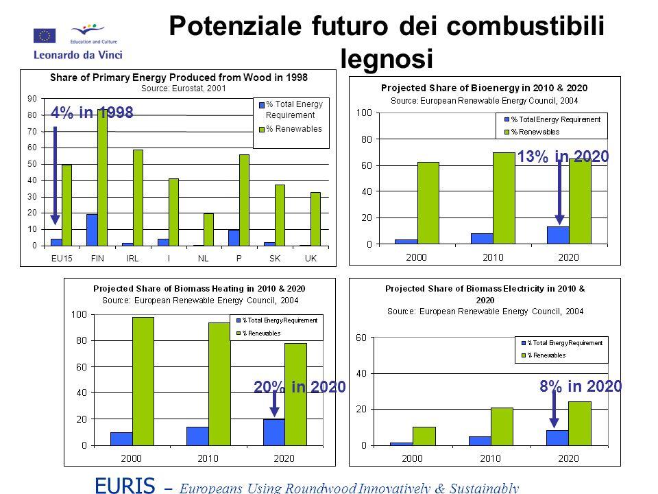 Potenziale futuro dei combustibili legnosi