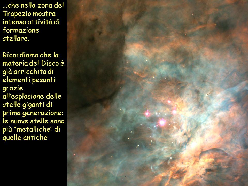 …che nella zona del Trapezio mostra intensa attività di formazione stellare.