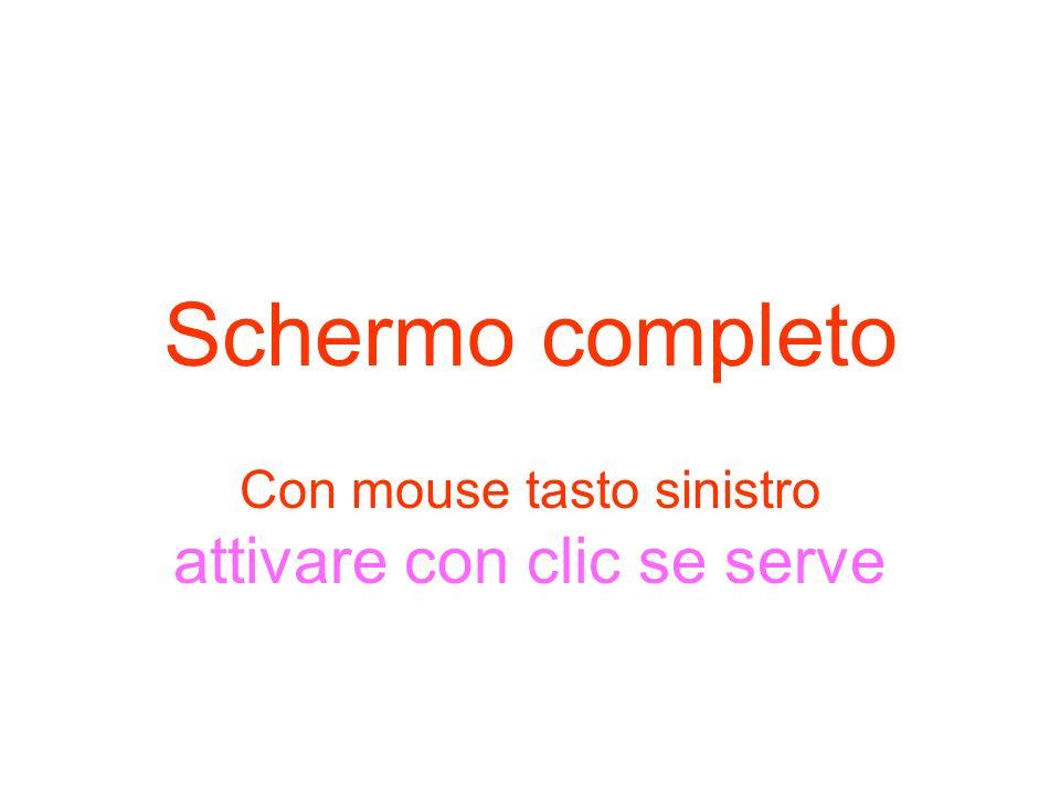 Con mouse tasto sinistro attivare con clic se serve