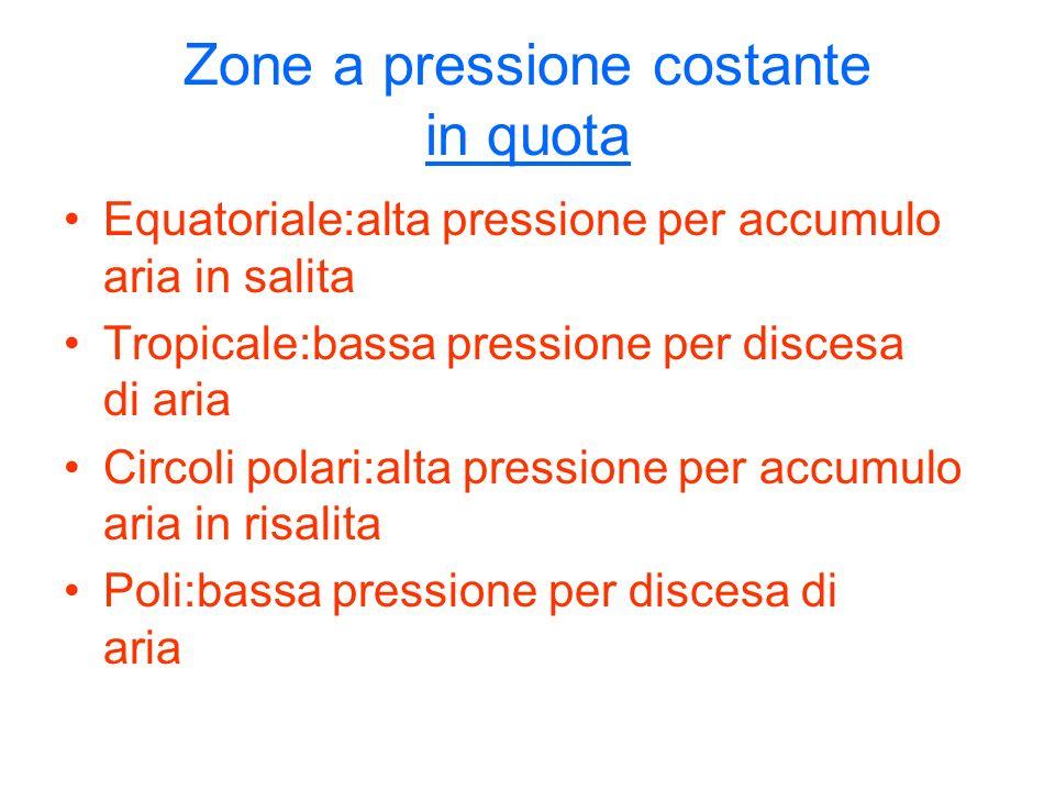 Zone a pressione costante in quota