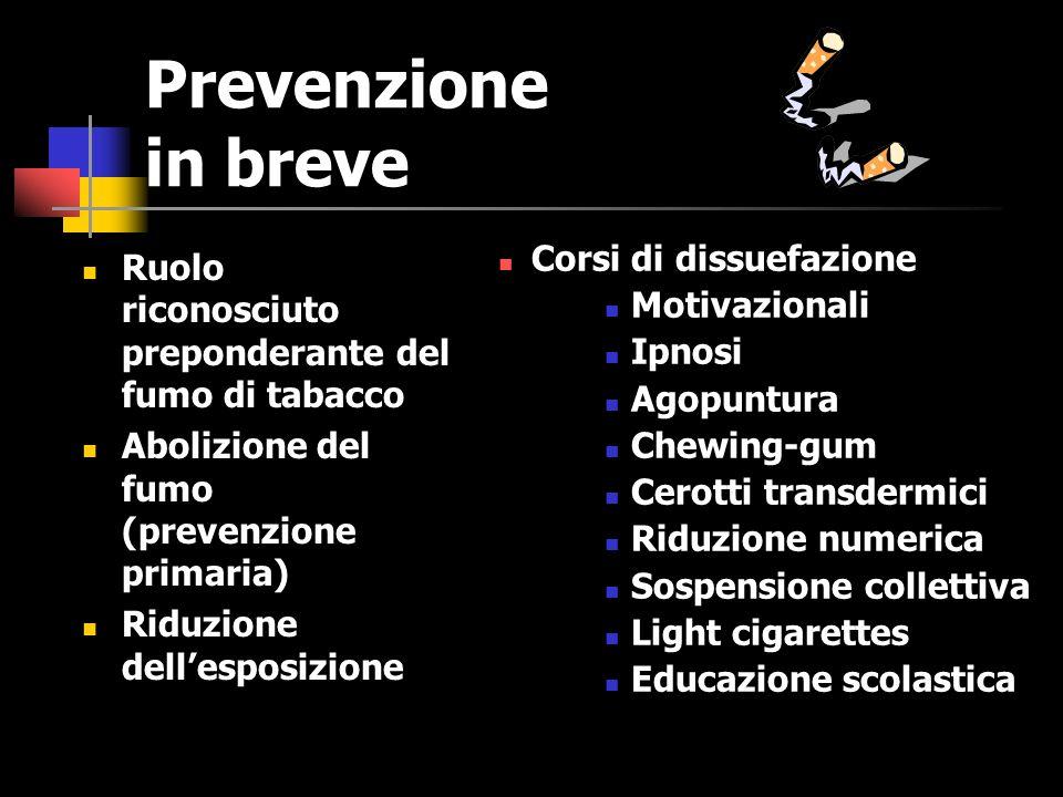 Prevenzione in breve Corsi di dissuefazione
