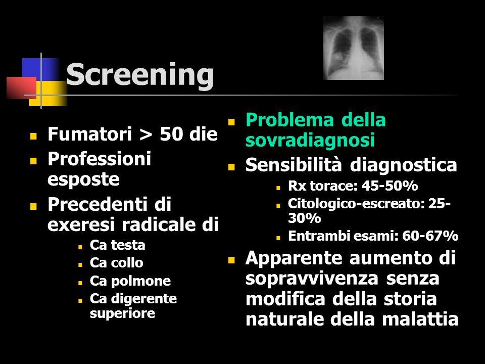 Screening Problema della sovradiagnosi Fumatori > 50 die