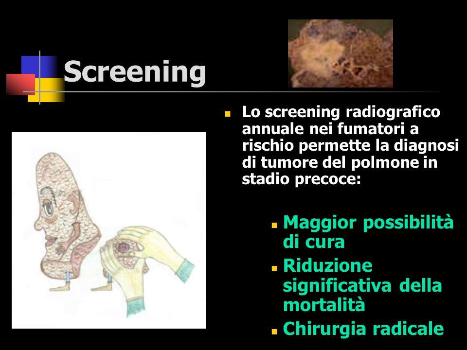 Screening Maggior possibilità di cura
