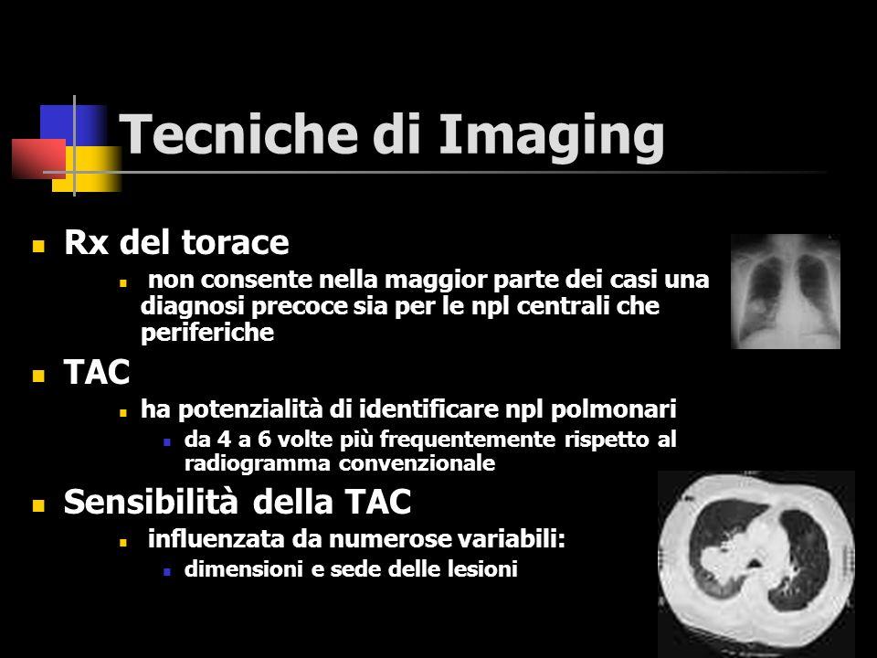 Tecniche di Imaging Rx del torace TAC Sensibilità della TAC