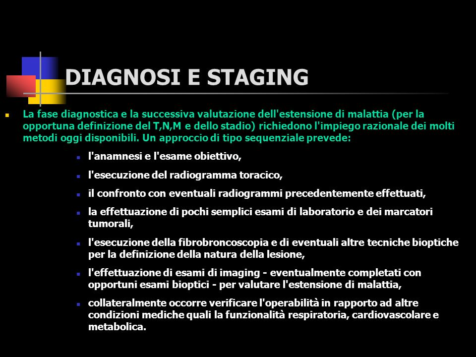 DIAGNOSI E STAGING