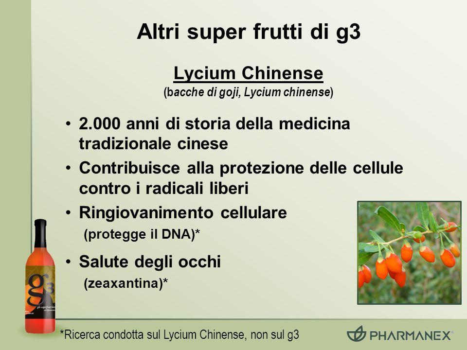 (bacche di goji, Lycium chinense)