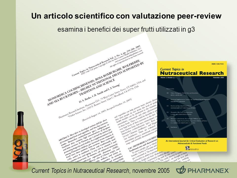 Un articolo scientifico con valutazione peer-review