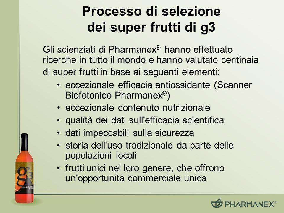 Processo di selezione dei super frutti di g3