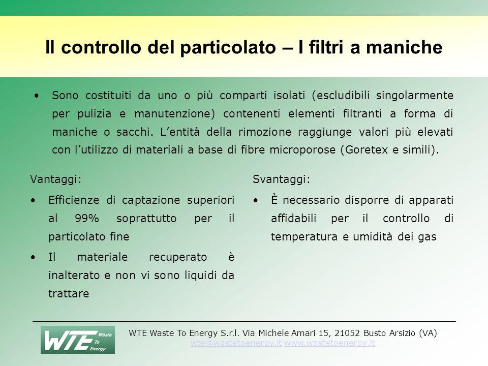 Il controllo del particolato – I filtri a maniche