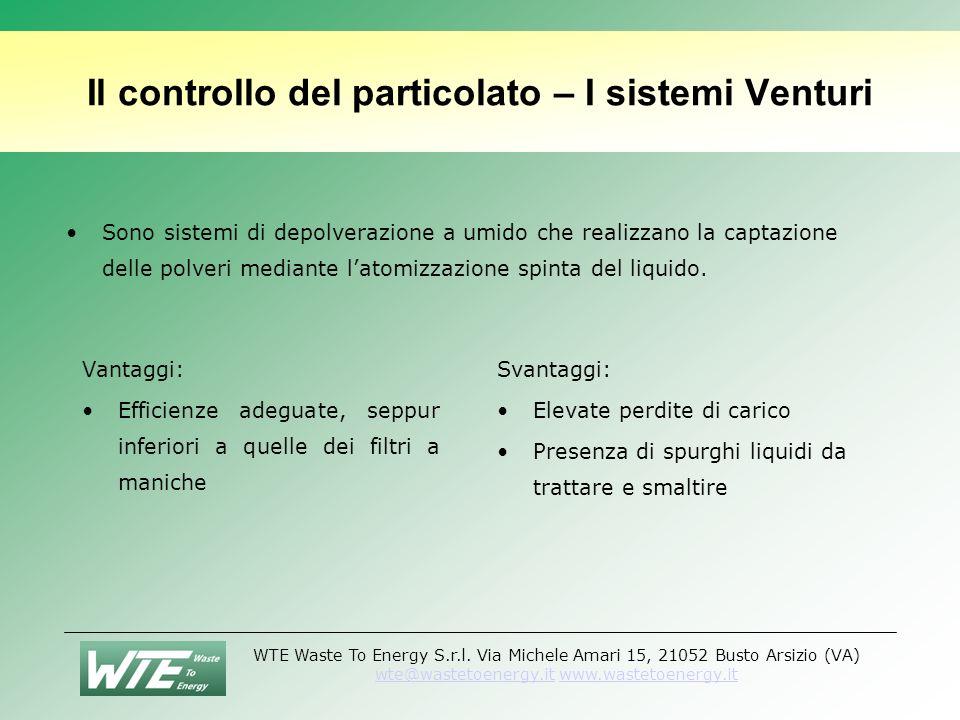 Il controllo del particolato – I sistemi Venturi
