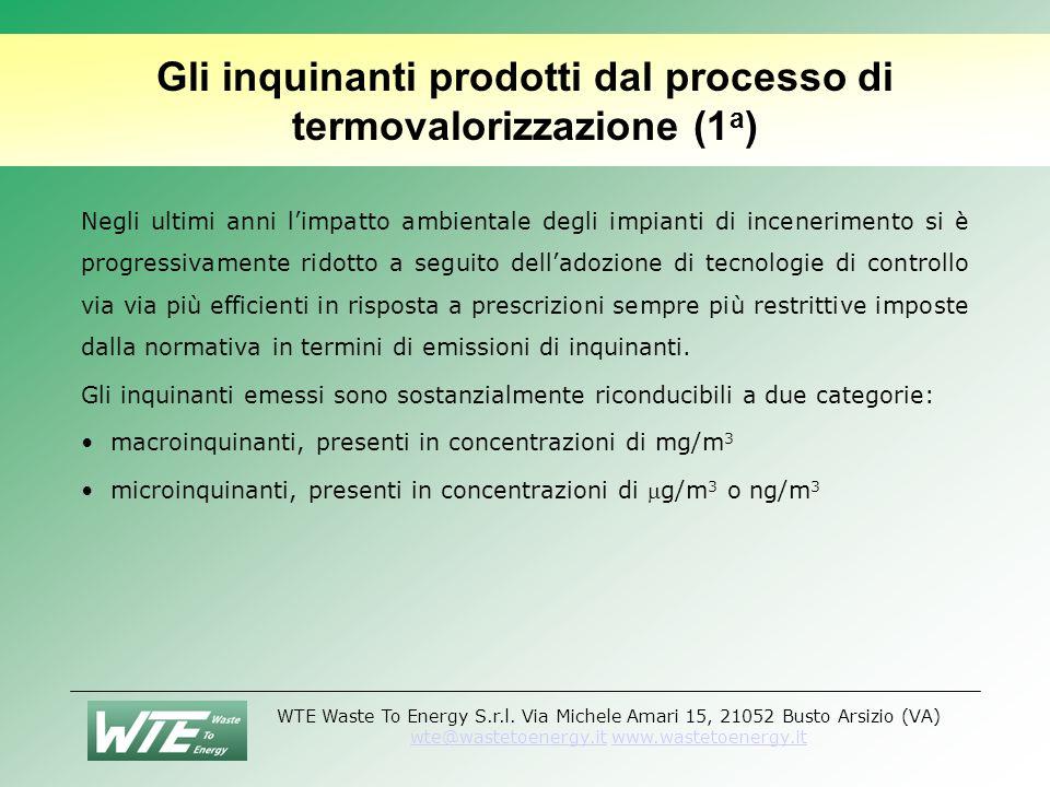 Gli inquinanti prodotti dal processo di termovalorizzazione (1a)