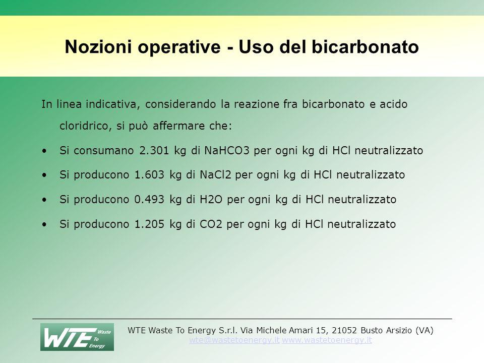 Nozioni operative - Uso del bicarbonato