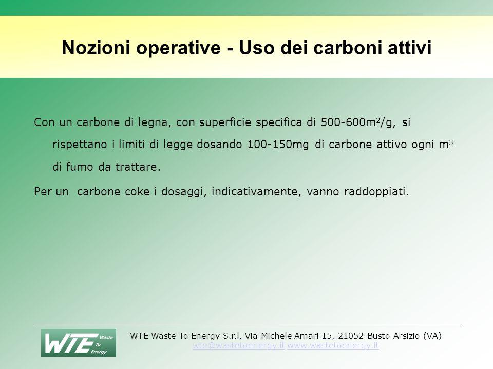 Nozioni operative - Uso dei carboni attivi