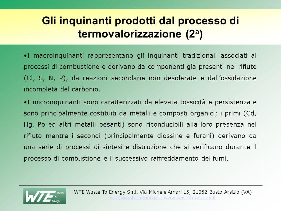 Gli inquinanti prodotti dal processo di termovalorizzazione (2a)