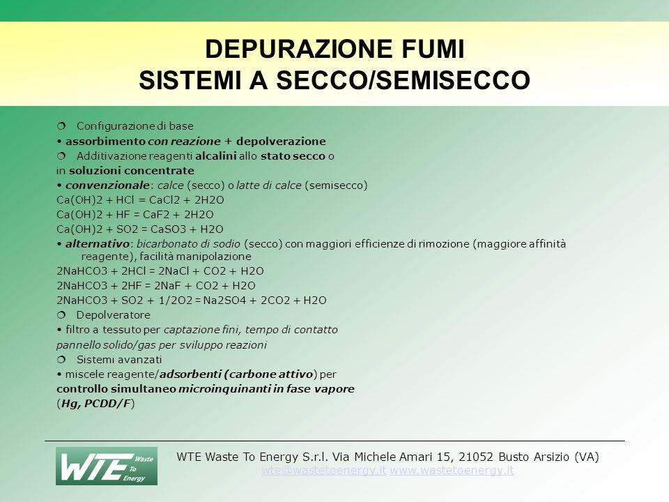 DEPURAZIONE FUMI SISTEMI A SECCO/SEMISECCO