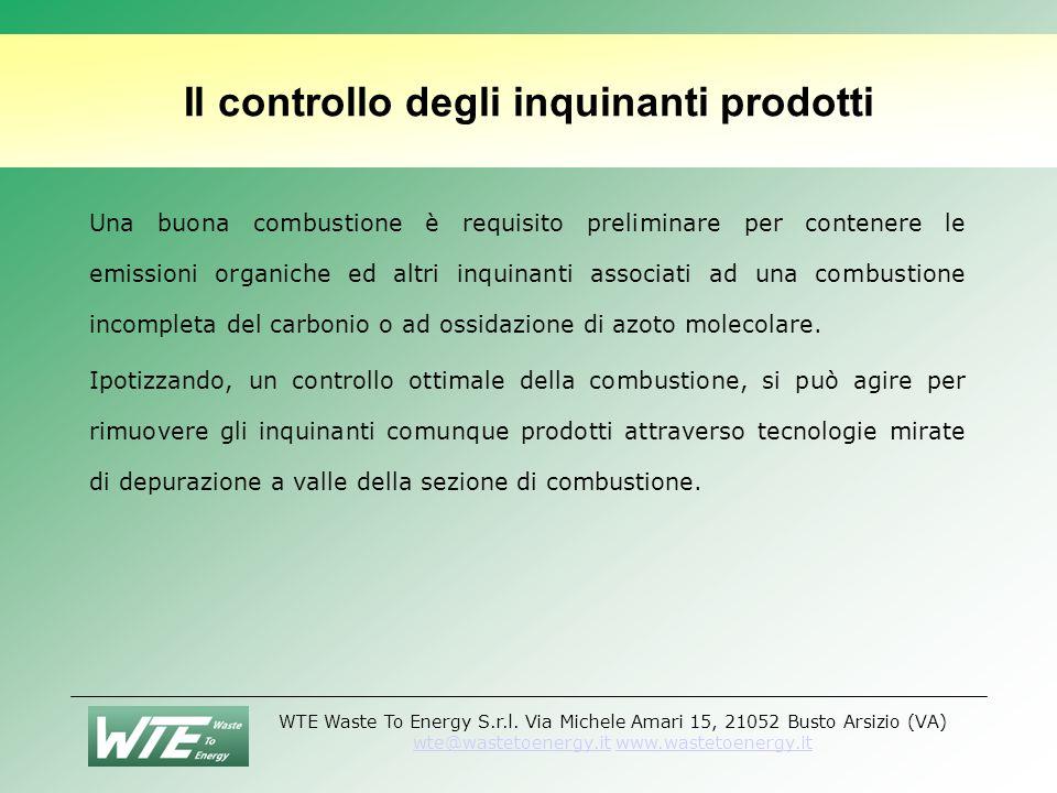 Il controllo degli inquinanti prodotti